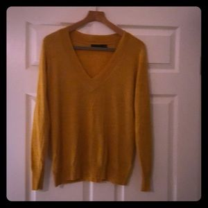 The Limited Mustard Yellow V Neck Sweater